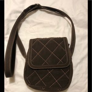 Vera Bradley Mini Hipster microfiber quilted bag